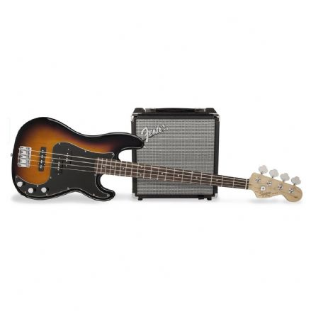 Squier Affinity PJ Bass Guitar Pack Brown Sunburst